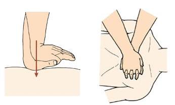 双手胸外心脏按压示意图-判断和解除儿童危难的快速有效方法