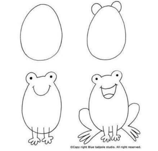 教小朋友画小动物,一定要收藏教给孩子!