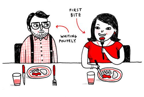 讲述了一些简单的餐桌礼仪